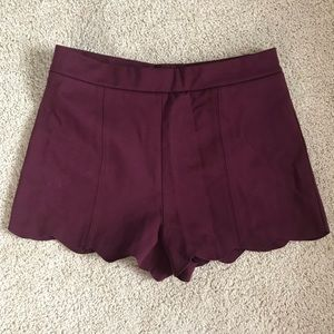 NWT Collective Scalloped High-waisted Shorts
